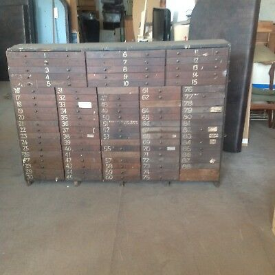 antique vintage industrial chest of 90 drawers depression period