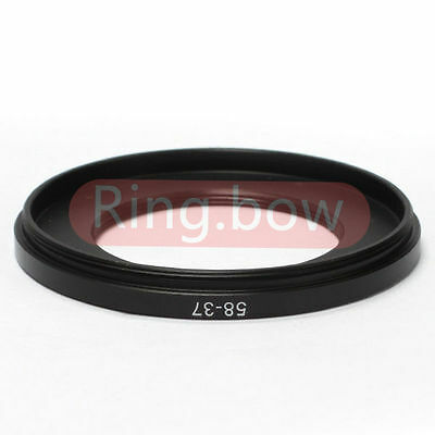 58mm-37mm Step-down Metal Filter Adapter Ring / 58mm Lens to 37mm Accessory