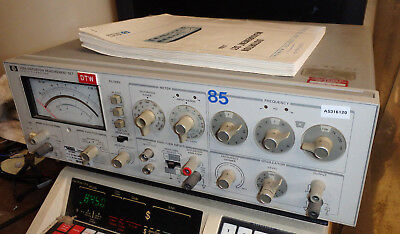 HP 339A Harmonic Distortion Analyzer - Good condition - with manual - radio