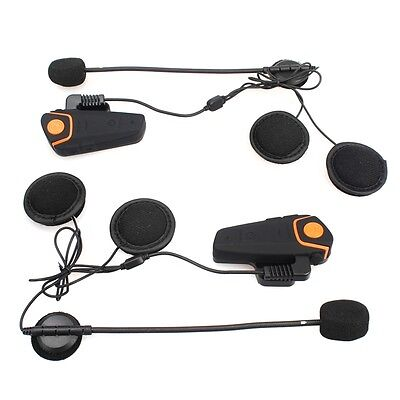 2 Sets Bluetooth Headset Mikrofon für BTS2 Motorrad Helm Intercom 1 KM Radio