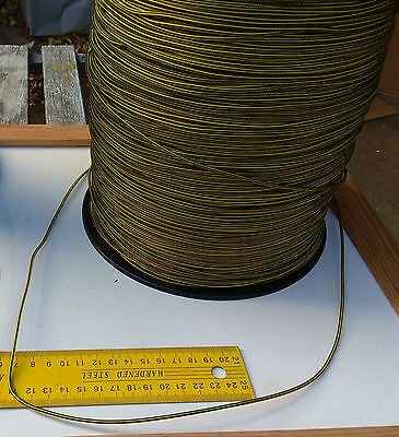 25m X 2mm YELLOW DOUBLE BRAID WITH DYNEEMA® CORE, YACHT & MARINE ROPE tens:200kg