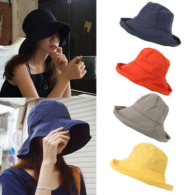 f6e9c3f18cb Women Men Beach Hiking Outdoor Big Shade Bucket Hat Fisherman Cap Sunscreen
