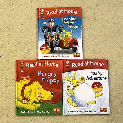 Oxford Reading Tree, Read at Home  Stage 4,   3 Hardback books with CDs