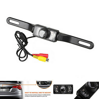 CMOS Car Rear View Reverse Backup Camera Parking Night Vision Waterproof 7LED NN