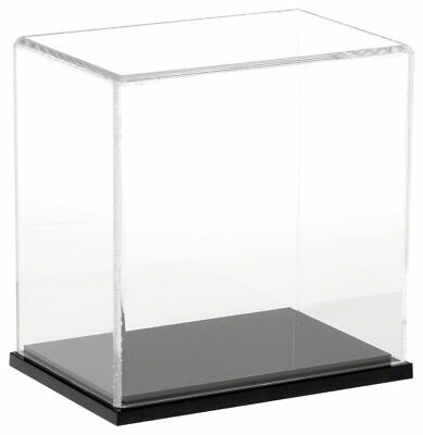 "Plymor Brand Clear Acrylic Display Case with Black Base, 6"" W x 4"" D x 6"" H"