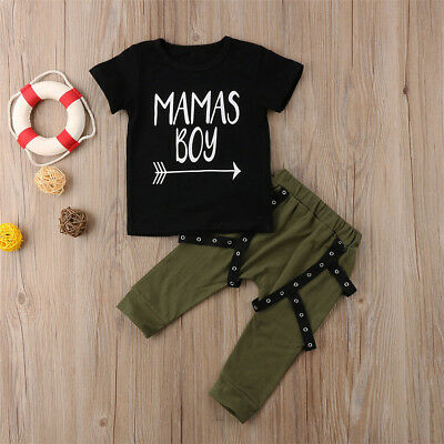 2pcs Toddler Kids Baby Boy T-shirt Tops+Harem Pants Trousers Outfits Clothes Set