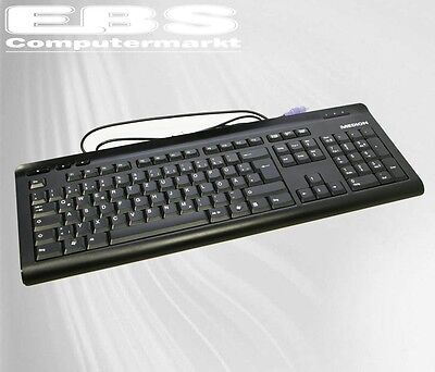 Medion PS/2  PS-2 Slim Keyboard PC Tastatur Modell: KB-0837 DE Neu OVP