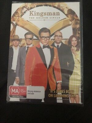 The Kingsman Golden Circle (DVD, 2017) Brand New & Sealed Movie 🍿 Action