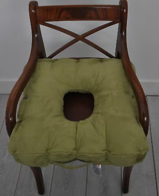 Faux Suede Booster Cushion With Comfort Hole [Sage] End Of Line Product