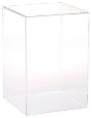 "Plymor Brand Clear Acrylic Display Case with No Base, 6"" W x 6"" D x 9"" H"