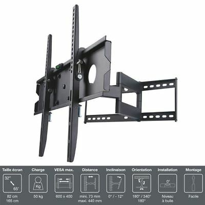 "INOTEK PRO M1 3265 Support TV mural - Pour TV 32"" a 65"" (81 a 165 cm) - Inclinab"