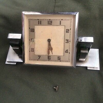 Vintage Art Deco Chrome And Glass Swivvle Clock Spares And Repairs