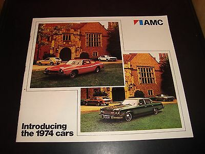 1974 AMC Sales Brochure 62 Pages NM Condition American Motors Gremlin Hornet