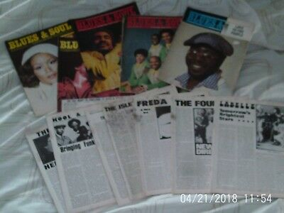 Blues and Soul Vintage Magazines x 12 1973 - 1975