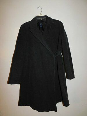 Ladies Gap Maternity Gray Wool Blend Winter Coat Medium