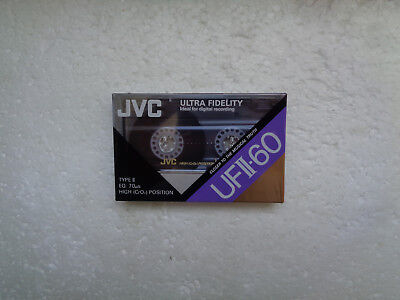 Vintage Audio Cassette JVC UFII-60 * Rare From Switzerland 1990 *