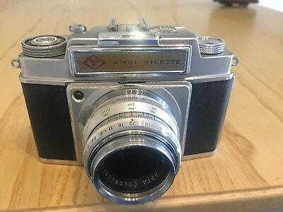 agfa Ambi Silette 35 Mm Camera With Kens And Case