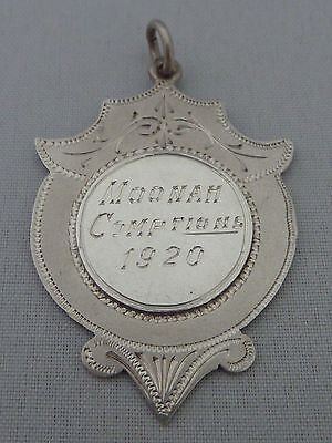 Vintage Australian solid silver Moonah Competition 1920 medal by F A Flint