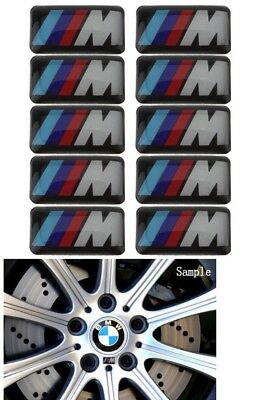 Quality 10 x BMW M Tech Alloy Wheel/Steering stickers M-sport 1 3 5 series OEM