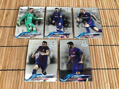 Topps Chrome 2017 2018 CHAMPIONS LEAGUE - Barcelona - Komplettes Team Set