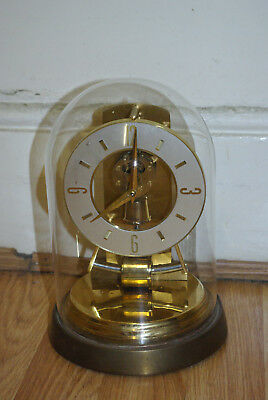 Kieninger & Obergfell Kundo glass domed clock in working condition c.1960s/1970s