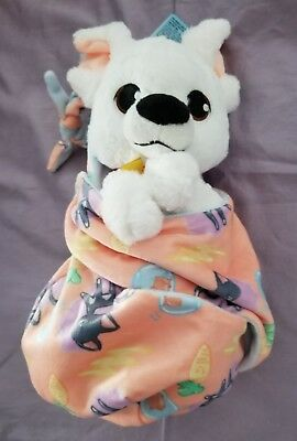 """Disney Parks 2017 Bolt Baby Plush with Blanket Pouch 10"""" Babies NEW ITEM"""