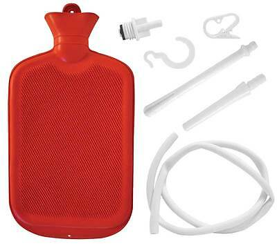 Hot Water Bottle Kit Douche Enema Aches Pains Menstrual Cramps