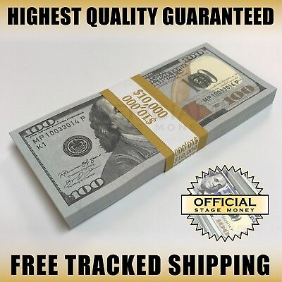 $10,000 - Top Quality Stack For Film, Movies, TV, Videos Copy Fake Prop Money