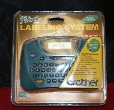BROTHER P-touch Electronic Large LCD Display Labeling System PT-65SCCP (11319)
