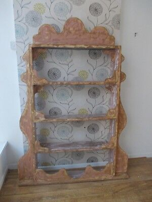 ANTIQUE STYLE display unit antique effect EX RETAIL WINDOW UNIT pine and' limed'