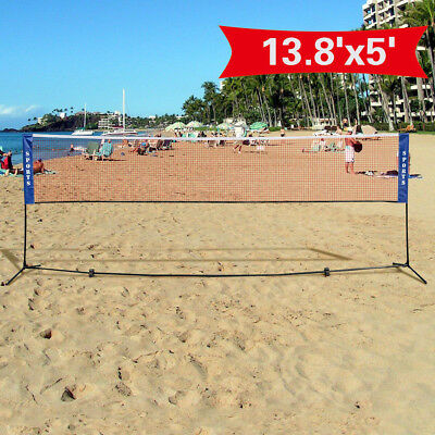 Portable Training Net w/ Carrying Bag Badminton Volley Tennis Outdoor Sports Net