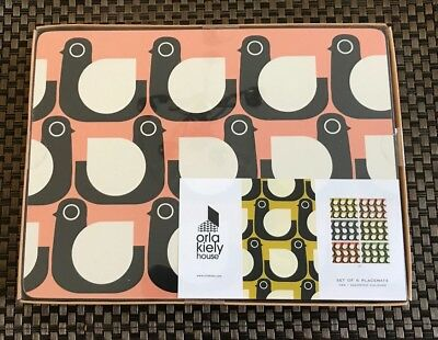Orla Kiely House Set Of 6 Placemats-Hen