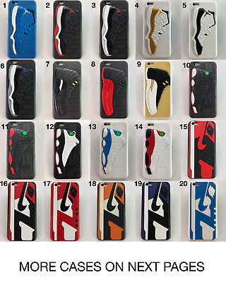 JORDAN RUBBER SHOE CASES FOR iPhone 6s 6+ 7 7 plus 8 8+ X LOT + FREE KEYCHAIN!!!