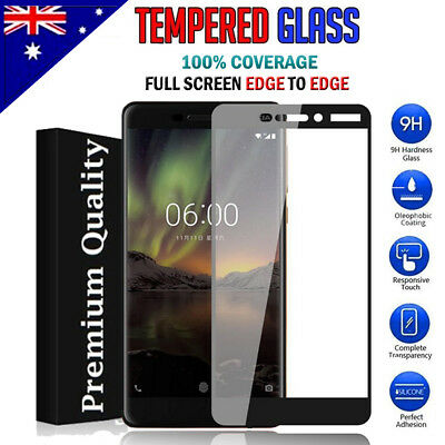 Full Coverage Tempered Glass Screen Protector For Nokia 5 6 6.1 /6 2018 7 Plus 8