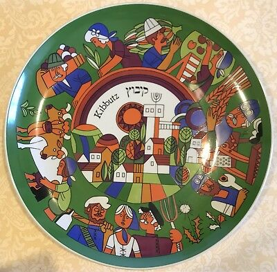 1980 Kibbutz Collectible Plate Y Gelbart for Naaman Israel Limited Edition #3887