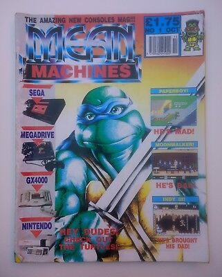Mean Machines Issue 1 UK video games magazine sega nintendo 1990