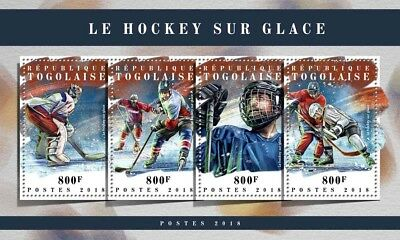 Togo 2018 MNH Ice Hockey 4v M/S Sports Stamps