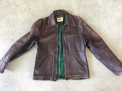 1940s horsehide halfbelt motorcycle jacket a2 wwii size 40