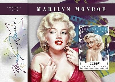 Togo 2018 MNH Marilyn Monroe 1 S/S Film Movie Stars Celebrities Stamps