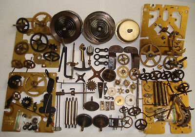 Job Lot CLOCK PARTS Plates Star Wheels Cogs Gears Watchmakers Steampunk LOT 235