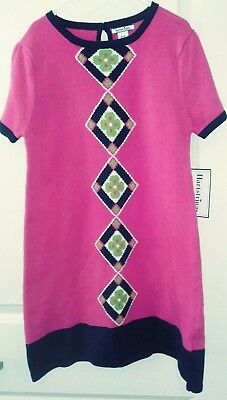 4a3648f46dc HARTSTRINGS PINK SWEATER dress Size 5 6 Long sleeve 100% cotton+lime ...