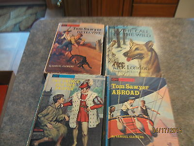 Lot of 4 Vintage Split Companion Library Books HC, 2 Stories for each Book