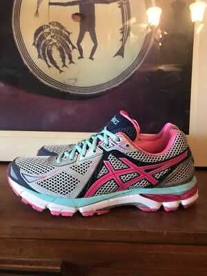 Mint Asics T550N GT-2000 3 Running Training Shoes Sneakers Pink Womens 11.5 44