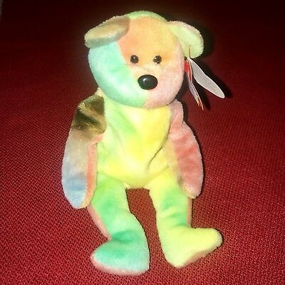 4f9a1febdc8 Garcia The Tie-Dyed Bear RETIRED w  Tag ERRORS Ty Beanie Babies