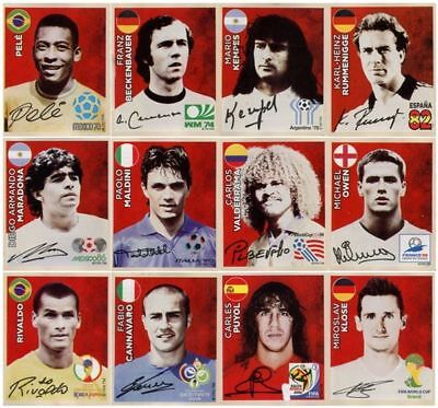 Panini 2018 World Cup Gold Edition ALL 12!!!! SWISS Coca Cola Legends C1 - C12