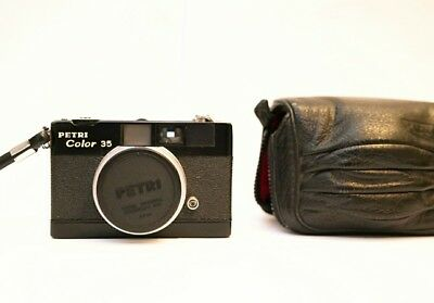 Rare PETRI COLOR 35 black version rangefinder camera * DEAL must see