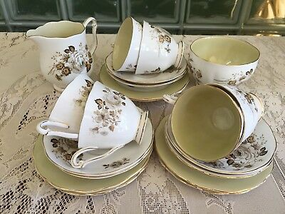 Queen Anne Rose Tea set for 6 Made in England