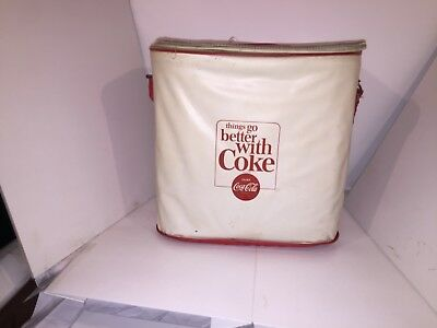 RARE Coca Cola Vinyl Cooler Ice Chest Bag with Tray Things Go Better with Coke