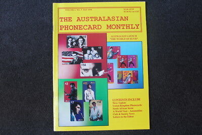 The Australasian Phonecard Monthly Magazine, May 1994, V2 No 5 Edition - RARE
