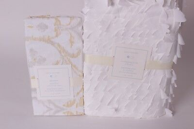 NWT Pottery Barn Kids Overlapping petals crib skirt & Adrienne medallion sheet